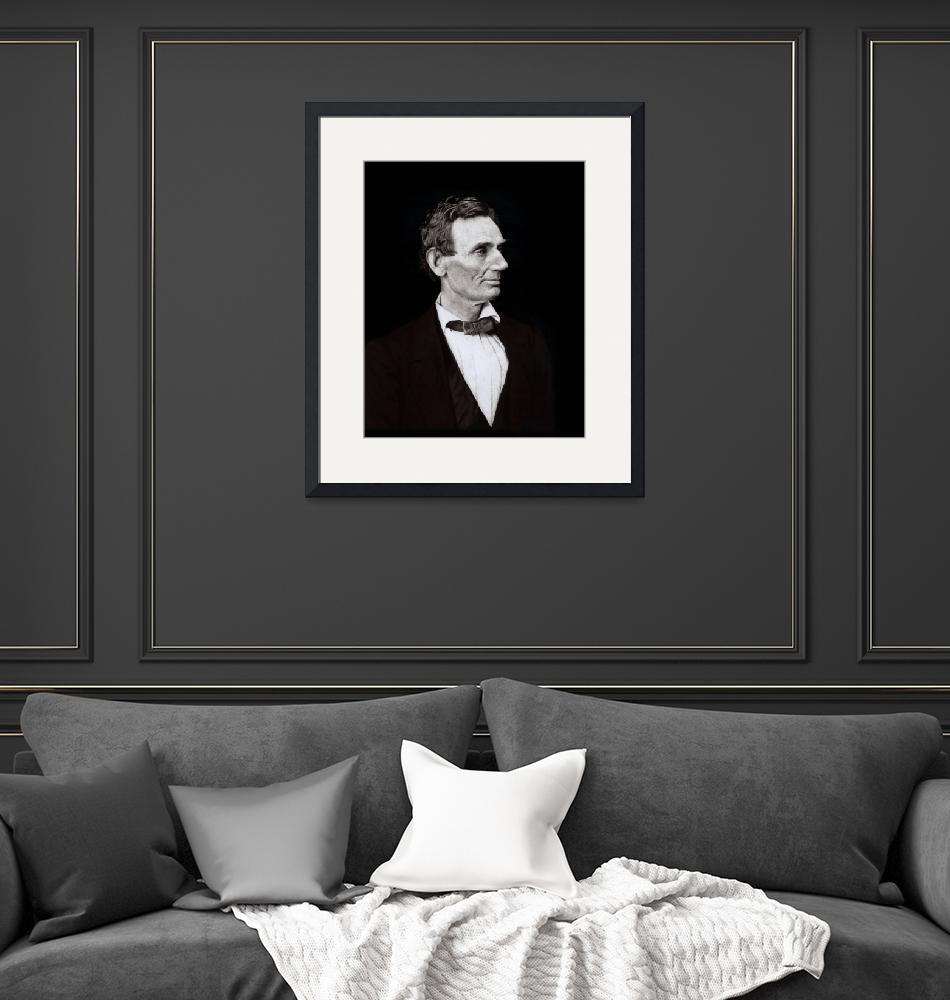 """Abraham Lincoln, President black background""  by limitededitionvintage"