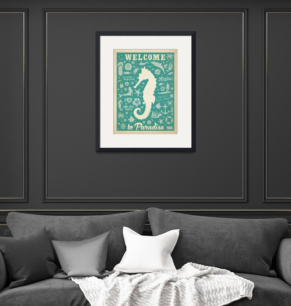 """""""Welcome to Paradise Retro Poster""""  by artlicensing"""