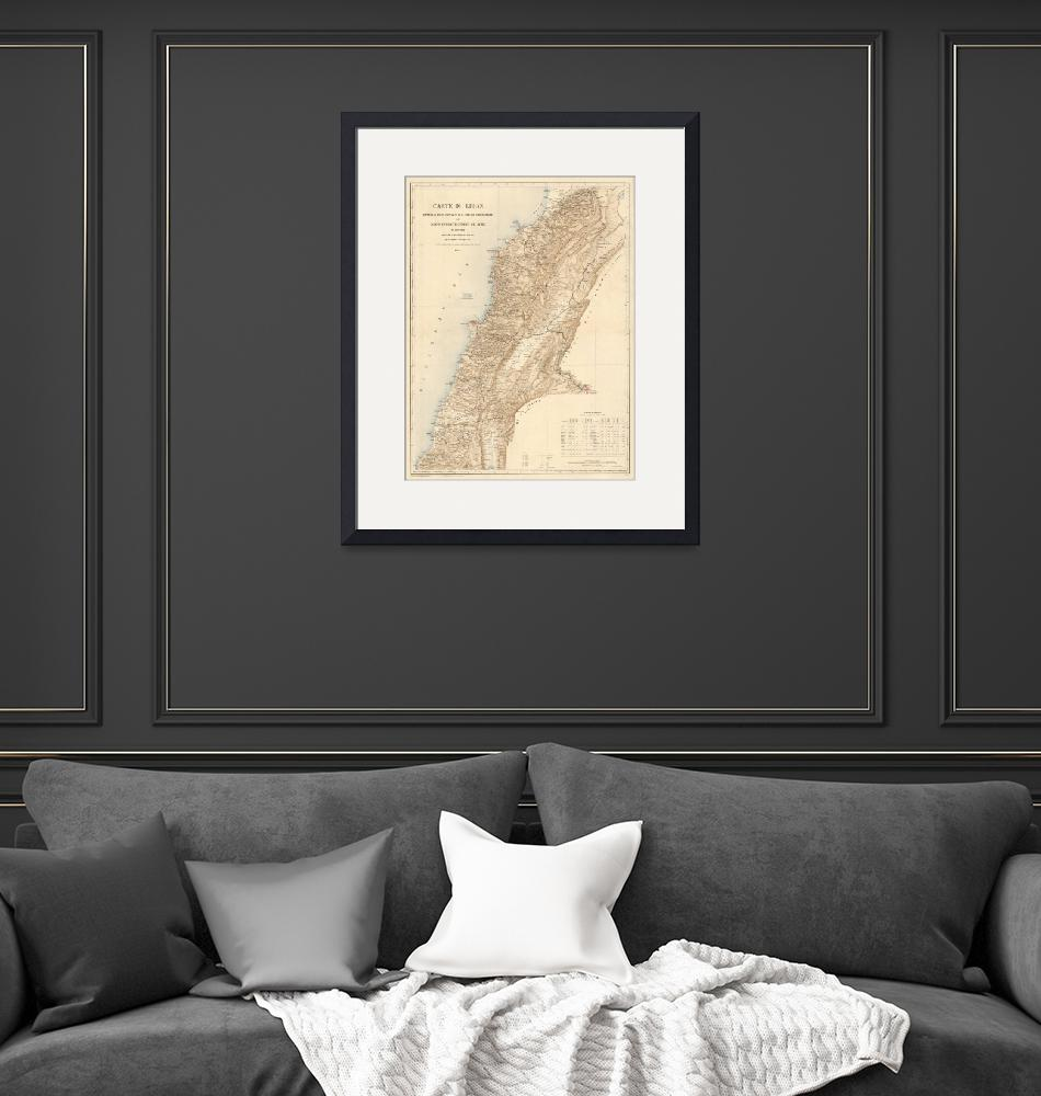 """Vintage Map of Lebanon (1862)""  by Alleycatshirts"