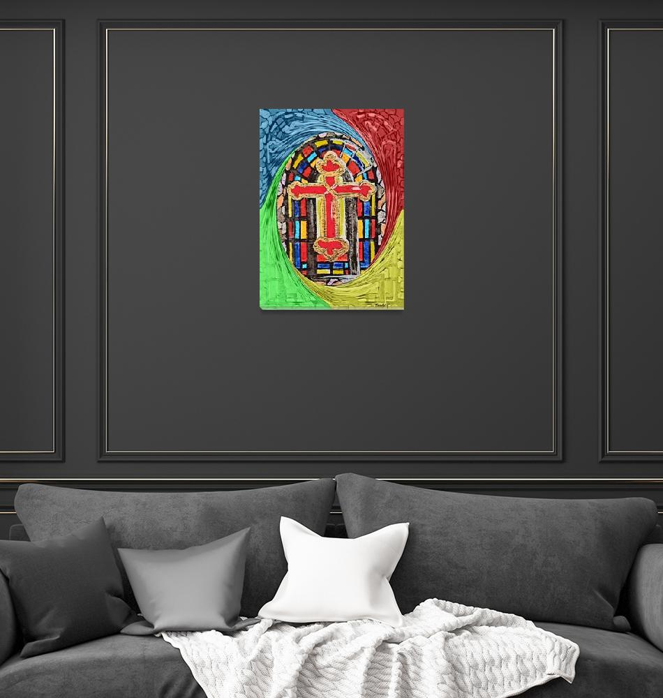 """""""Stained Glass Church Window"""" by EloiseArt"""