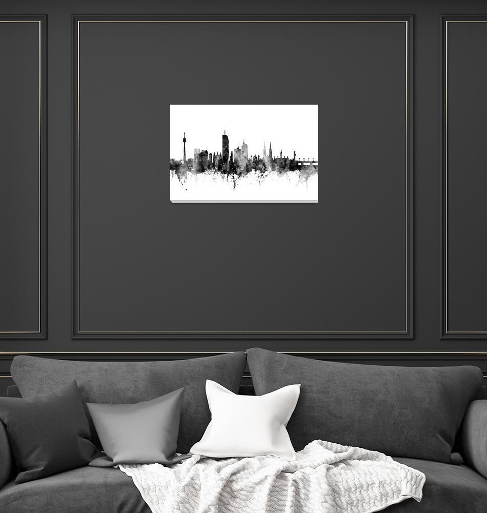"""""""Vienna Austria Skyline""""  (2017) by ModernArtPrints"""