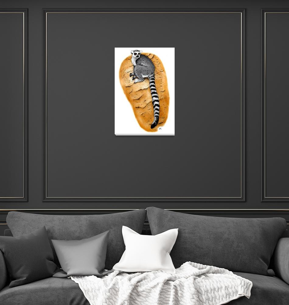"""Ring-Tailed Lemur""  by inkart"