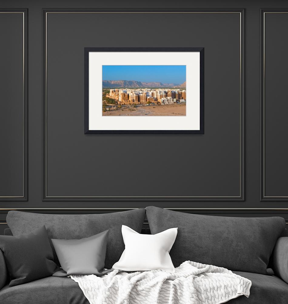 """Panorama of Shibam, Hadhramaut province, Yemen""  by kalishko"