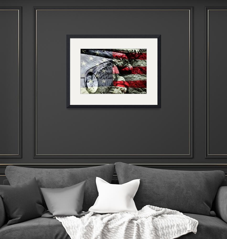 """""""Red White and Jeep""""  (2015) by LukeMoore"""
