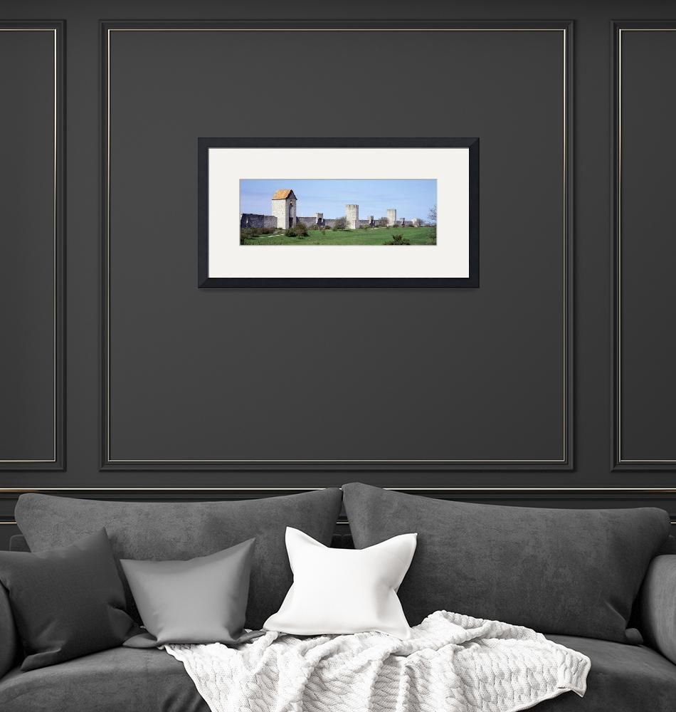"""""""Stone wall along a lawn""""  by Panoramic_Images"""