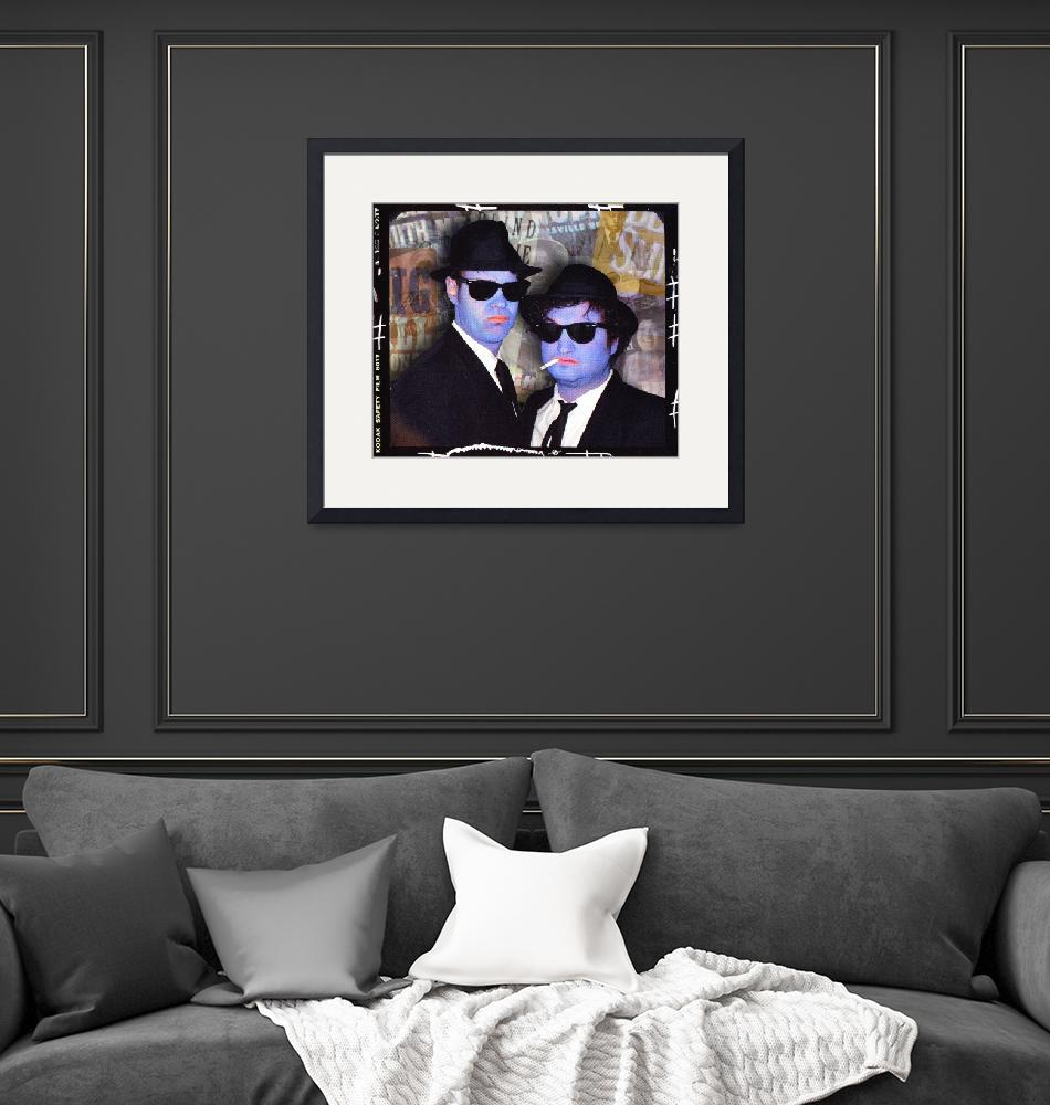 """""""Blues Brothers Sepia""""  by RubinoFineArt"""