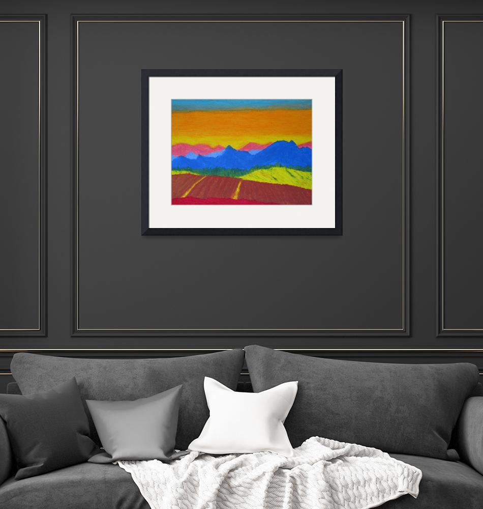 """""""Mountains in pastel""""  (2005) by Cocasse"""