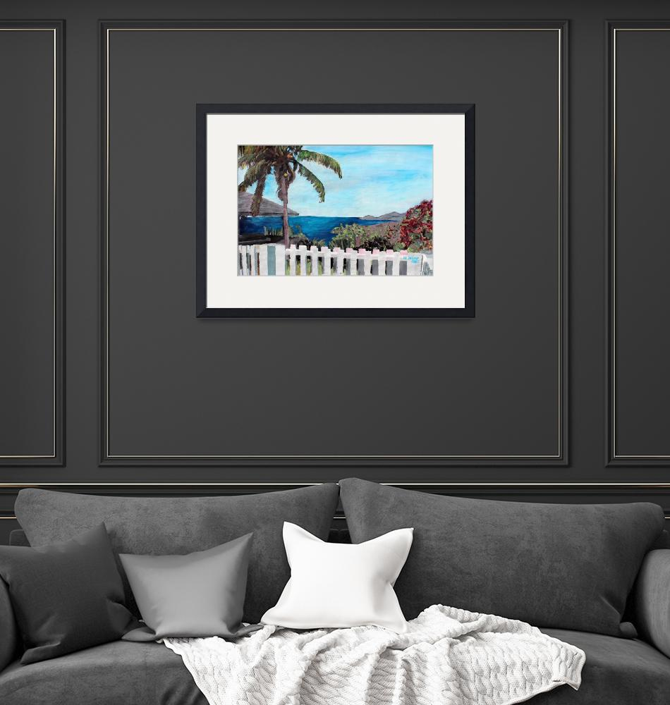 """""""White Fence at English Harbour, Antigua, West Indi""""  (2012) by arthop77"""
