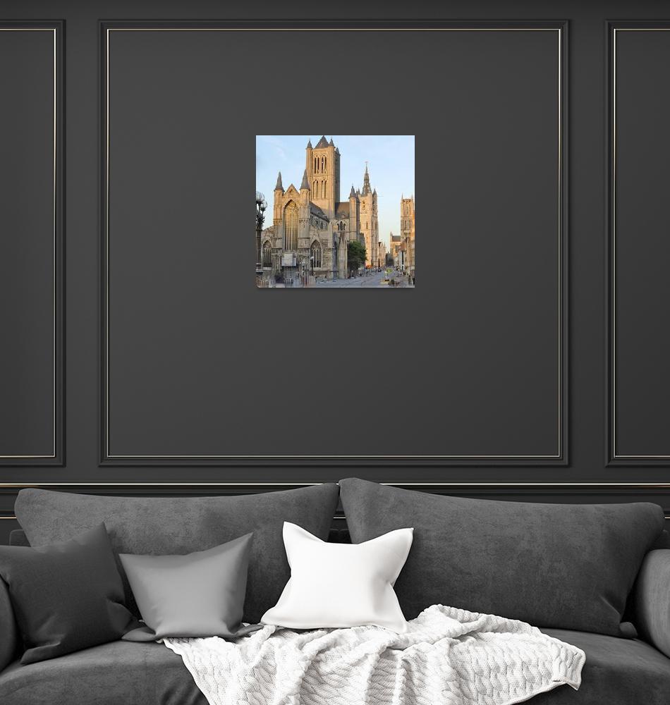 """Three Towers of Ghent""  (2011) by marilyndunlap"
