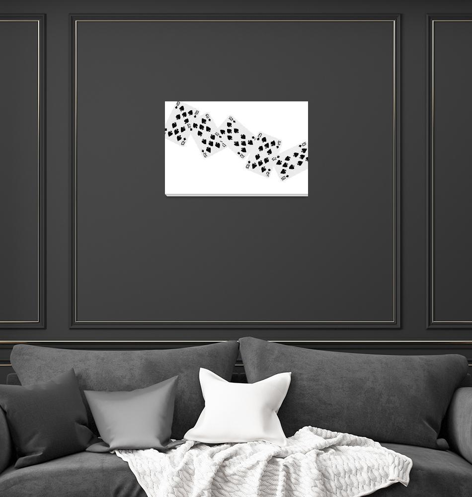 """""""Playing Cards Ten of Spades on White Background""""  by NatalieKinnear"""