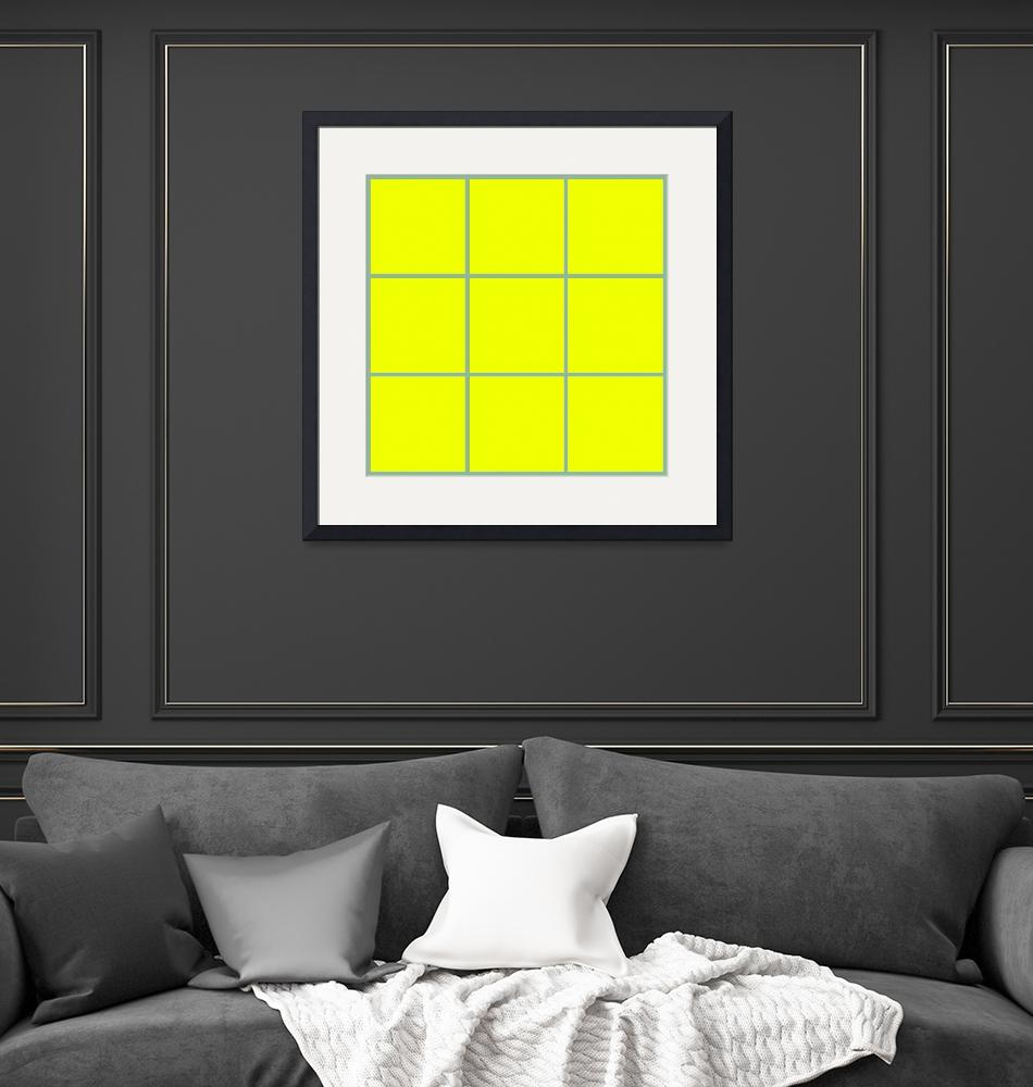 """Yellow Window 111 Canvas Contemporary Modern""  (2010) by Ricardos"