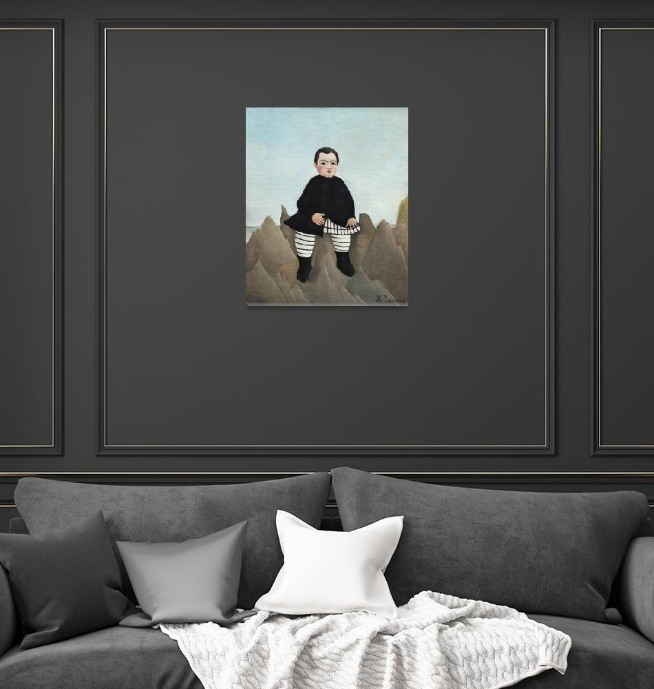 """Boy on the Rocks by Henri Rousseau""  by FineArtClassics"