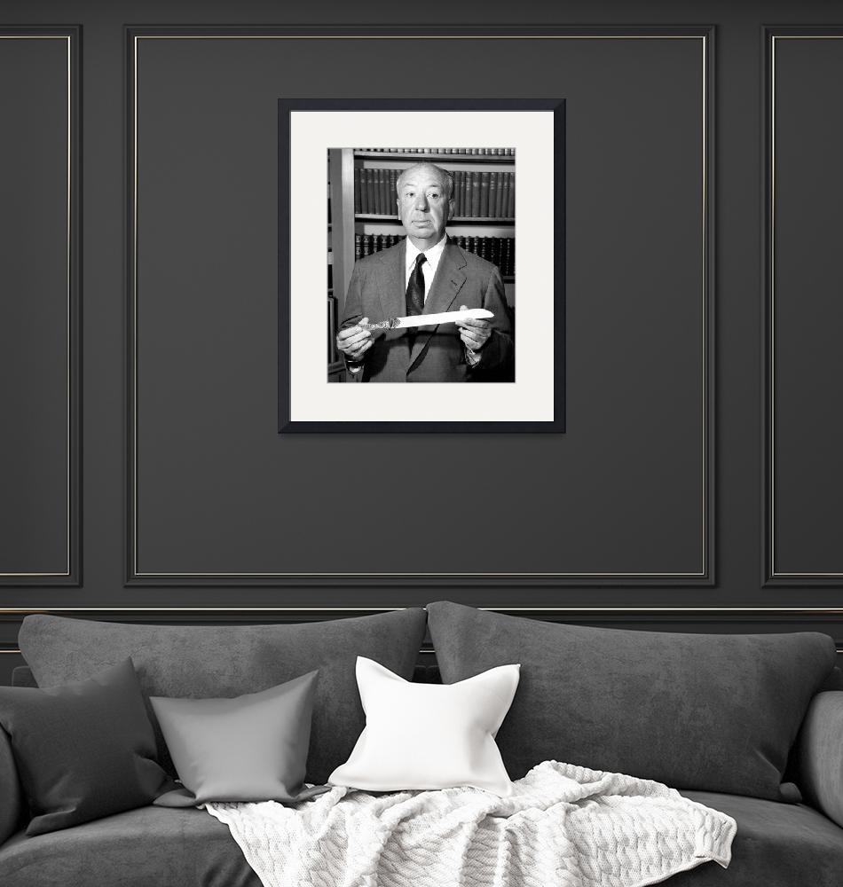 """""""Alfred Hitchcock""""  by RetroImagesArchive"""