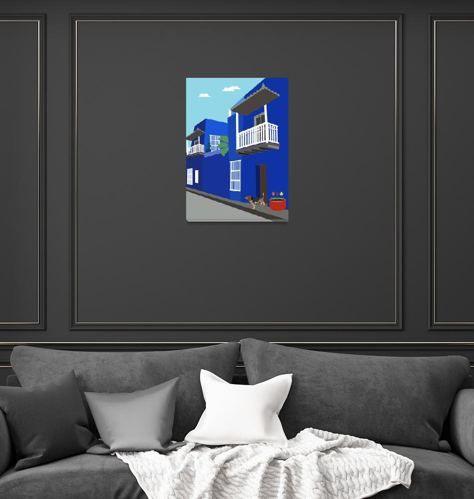 """""""Blue Street in Mexico""""  by Design4uStudio"""