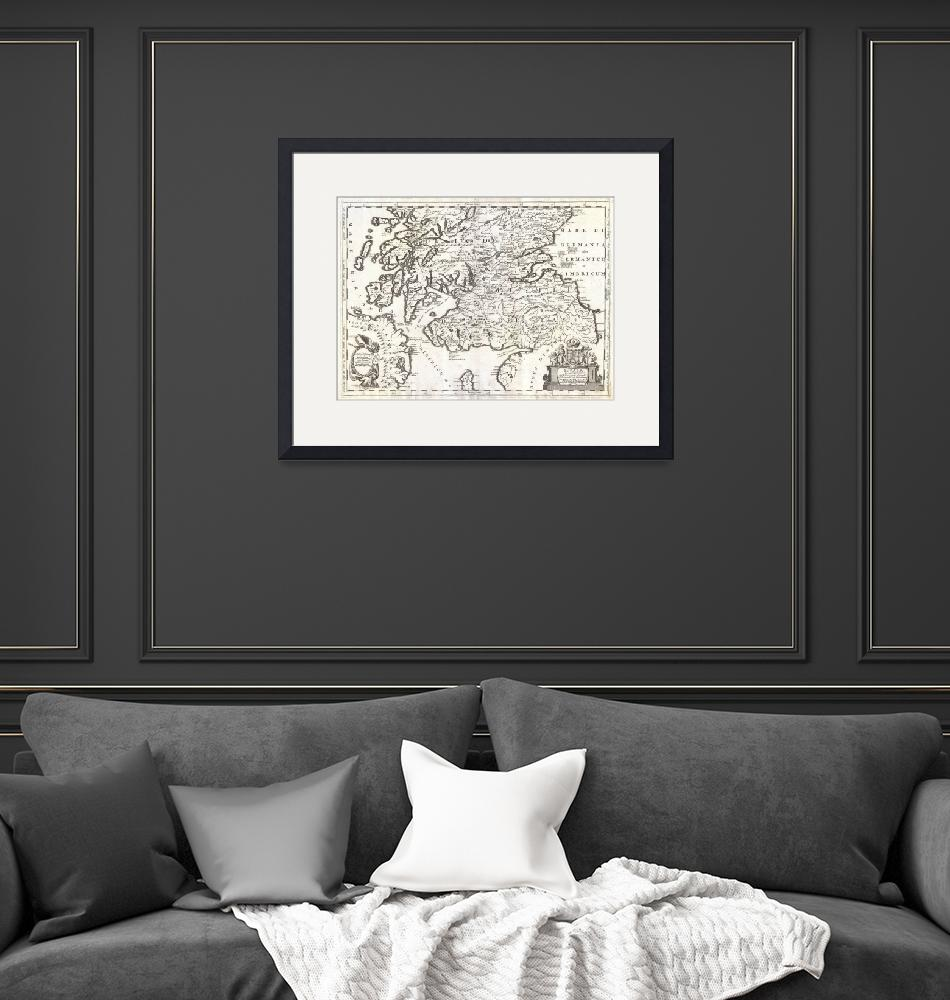 """Map of Southern Scotland by Coronelli"" by FineArtClassics"