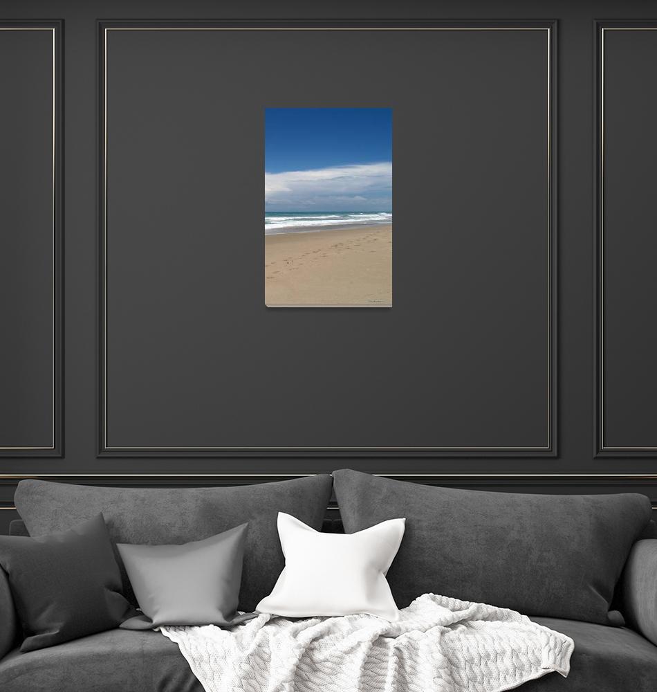 """Treasure Coast Beach Seascape C4 Triptych R""  (2015) by Ricardos"