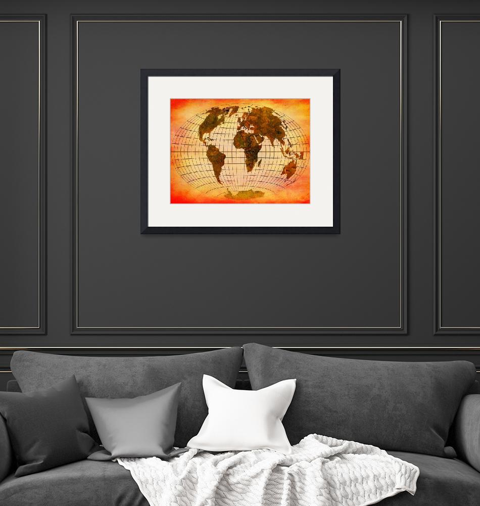 """""""World Map 1a"""" (2013) by Marian1"""