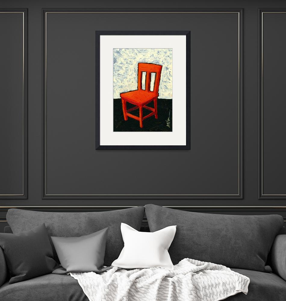 """""""Red Chair""""  (2010) by JanetNelson"""