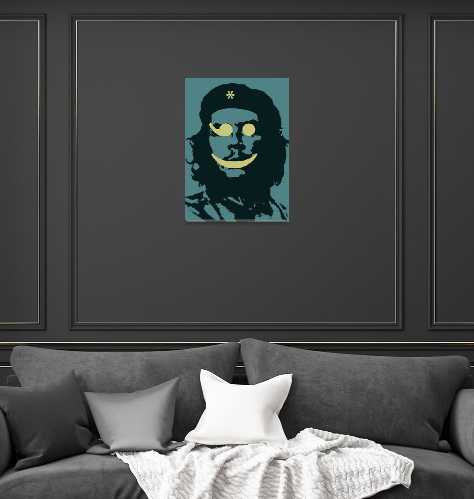 """""""Che Guevara Emoticon 2""""  by RubinoFineArt"""
