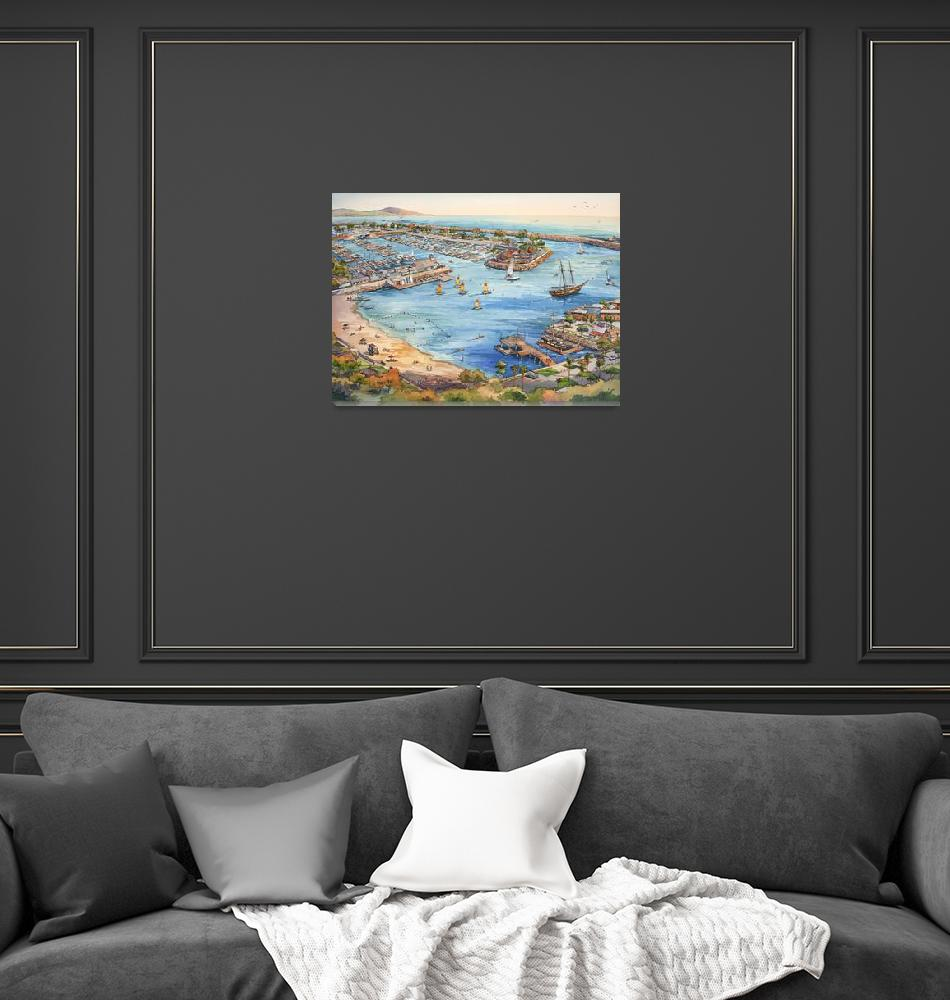 """""""Dana Point Harbor""""  by WillyDaleArt"""