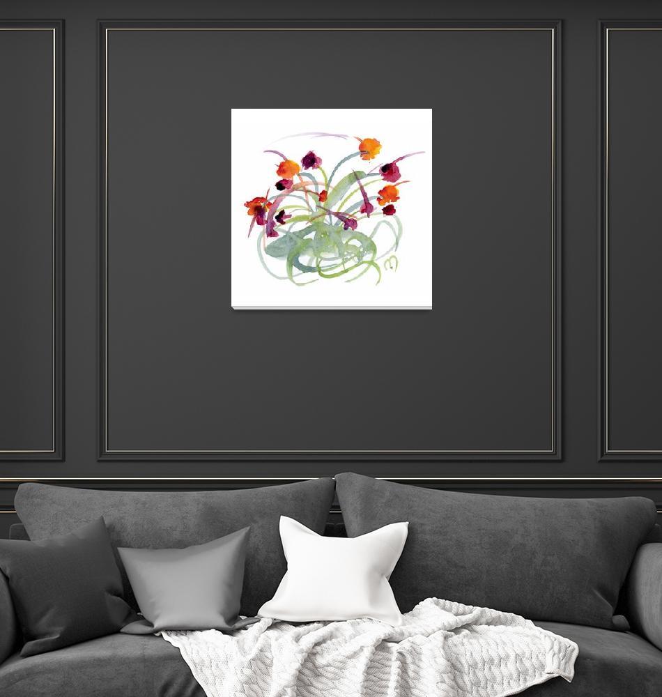 """""""Atom Flowers No24""""  (2011) by MarinaKanavaki"""