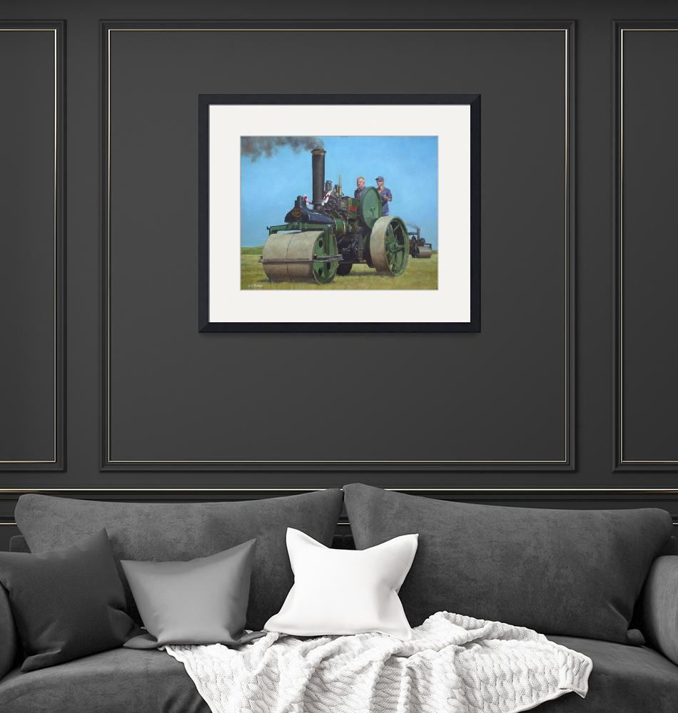 """steam traction engine""  (2010) by martindavey"