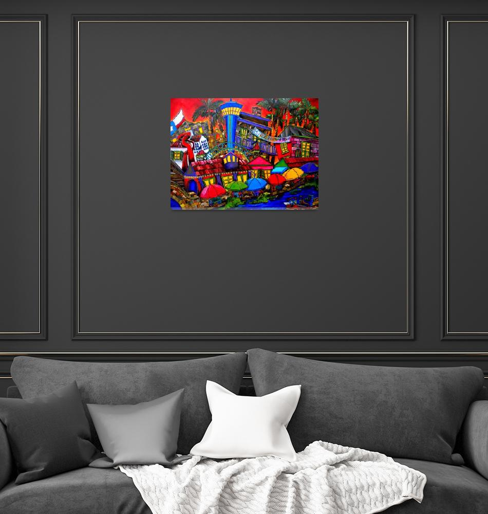 """""""Downtown Attractions""""  (2010) by artbypatti"""