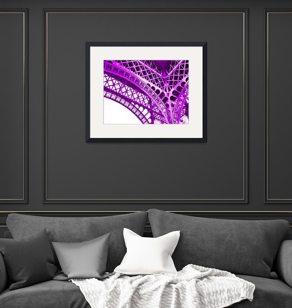 """""""Eiffel Tower Arch Support Detail Violet""""  (2013) by TheNorthernTerritory"""