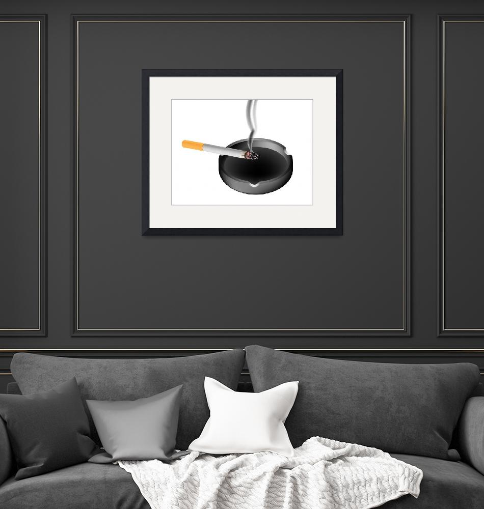 """""""smoky cigarette and ashtray""""  by robertosch"""
