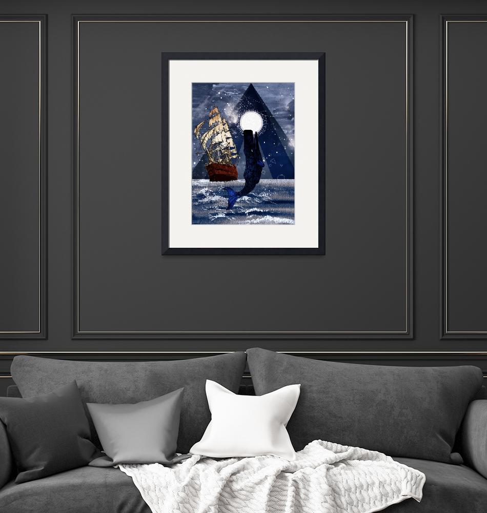 """""""Whale and Sails""""  by Design4uStudio"""