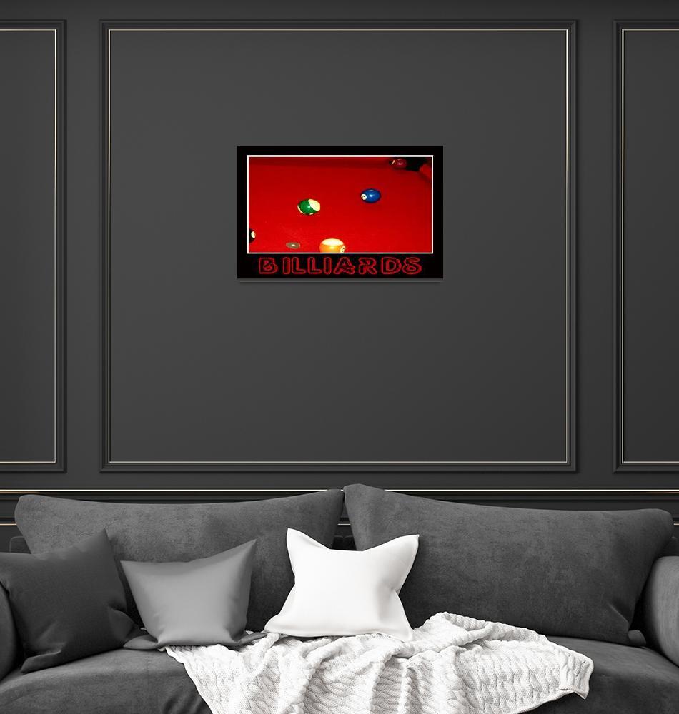 """Billiards Bkack""  (2009) by 2-mello"