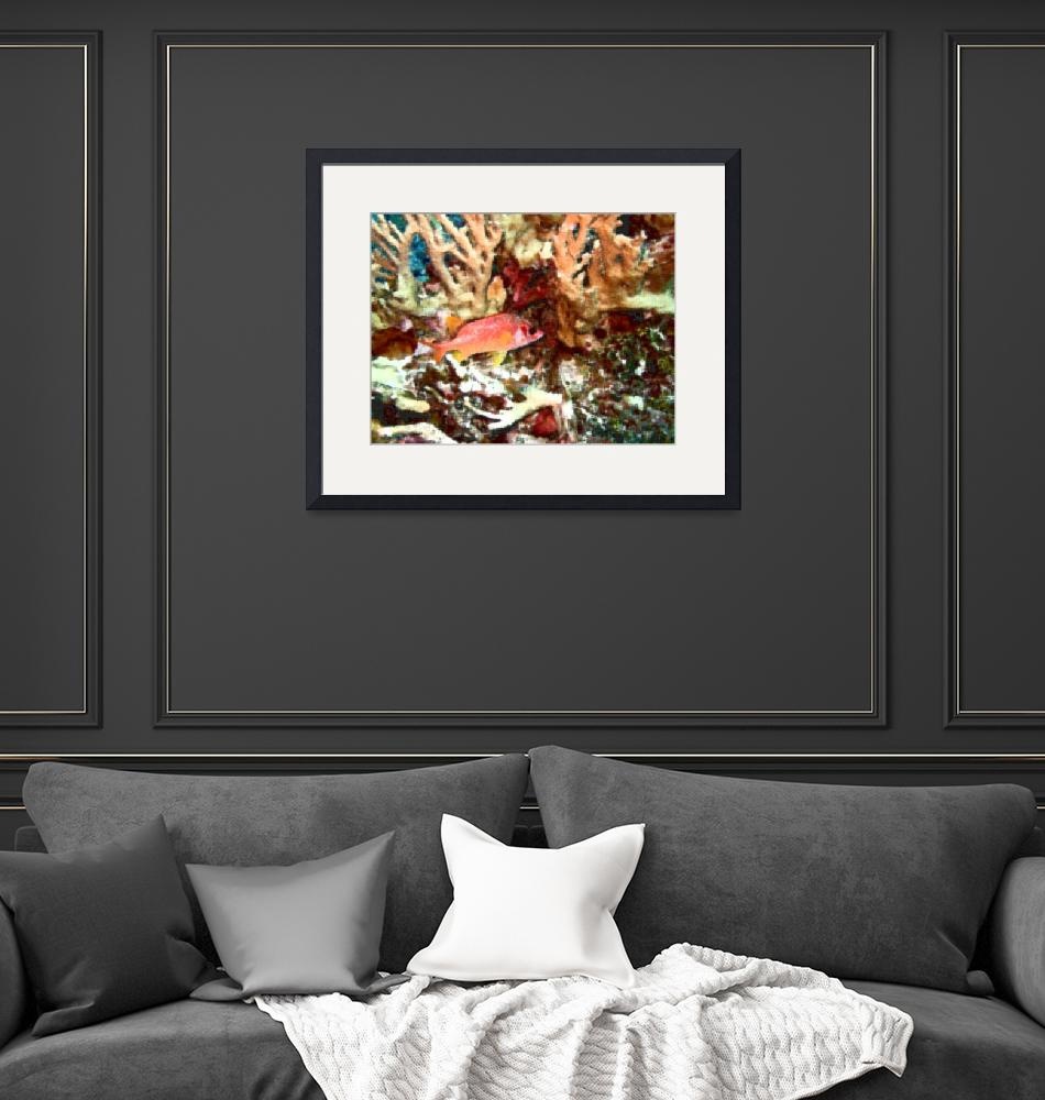 """""""Red Squirrelfish in Watercolor""""  by Mac"""