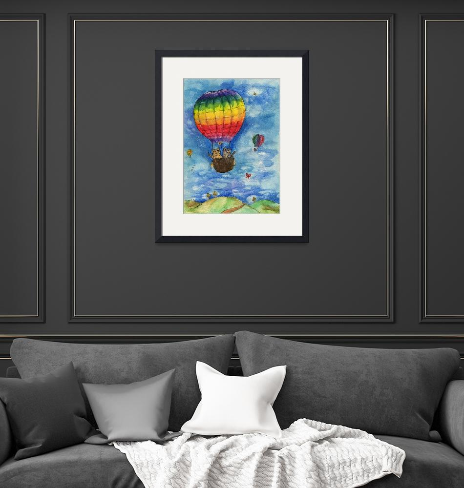 """up up and away in a lovely rainbow balloon""  (2015) by tarantella"
