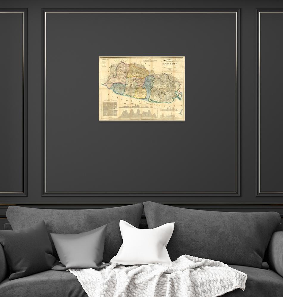 """""""Vintage Map of El Salvador (1858)""""  by Alleycatshirts"""