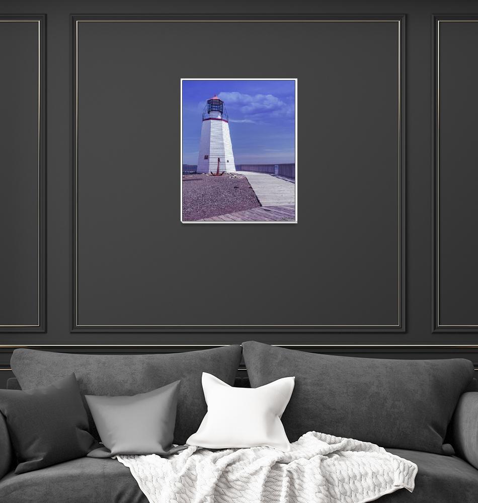 """Pendlebury Lighthouse - St Andrews, New Brunswick""  (2015) by kenmo"