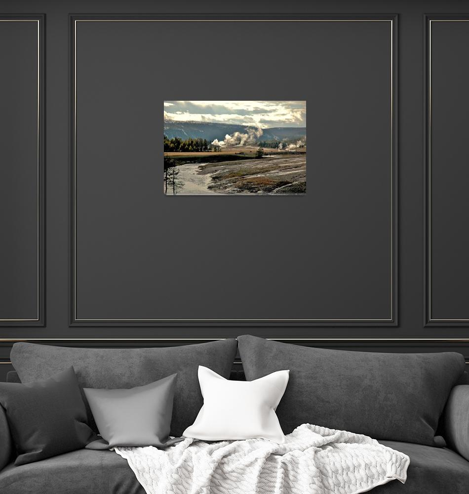 """""""Yellowstone view from Old Faithful"""" (2006) by eyecontact"""