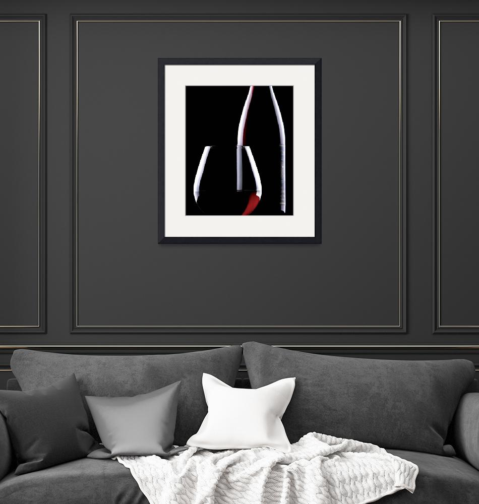 """""""Pinot Noir Silhouette""""  by winecountrycreations"""