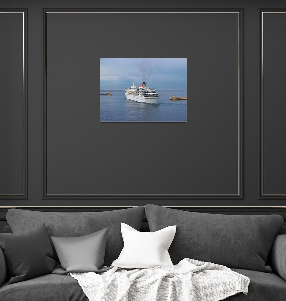 """""""Liner Leaving Malta""""  (2007) by malcolmsnook"""