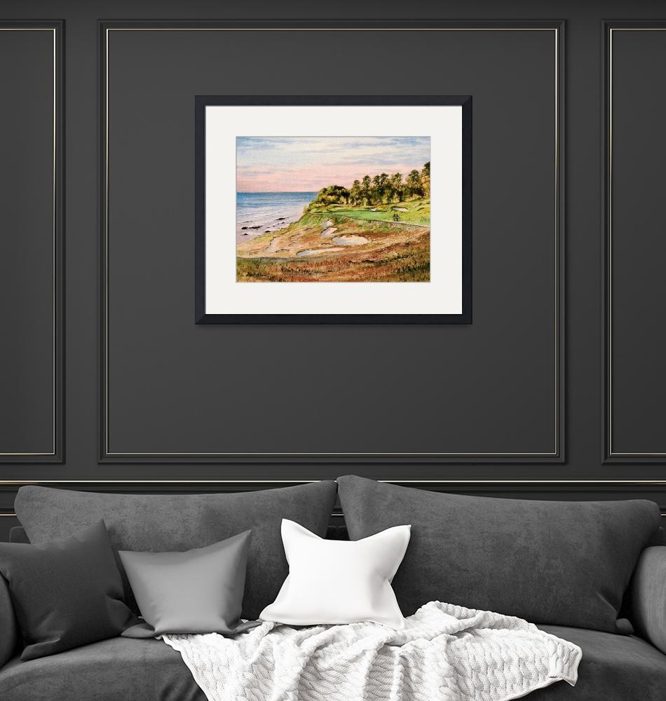 """""""Whistling Straits Golf Course 17th Hole""""  (2014) by billholkham"""
