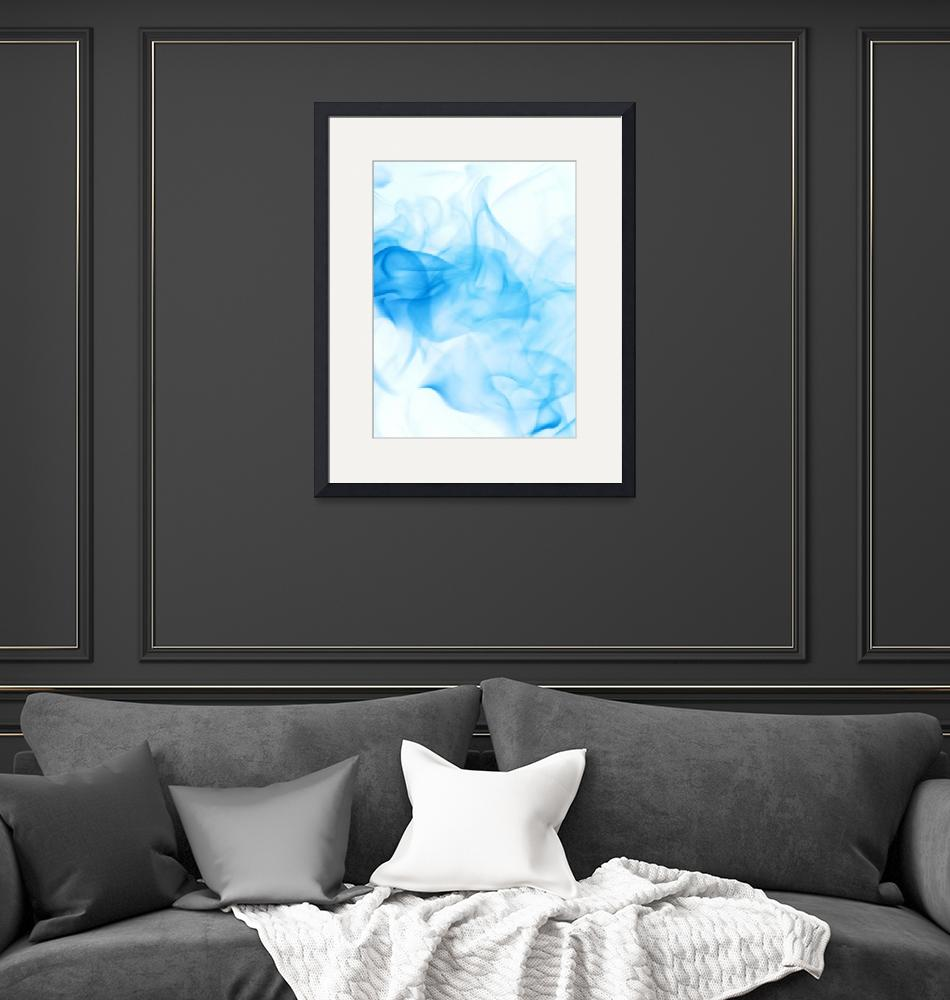 """""""blue abstract""""  by JordanEvans"""