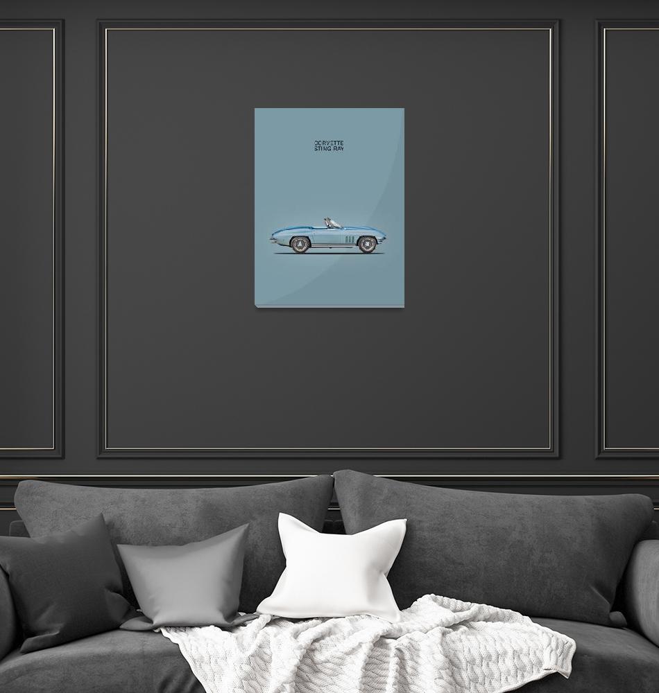 """""""The 65 Corvette""""  (1965) by mark-rogan"""