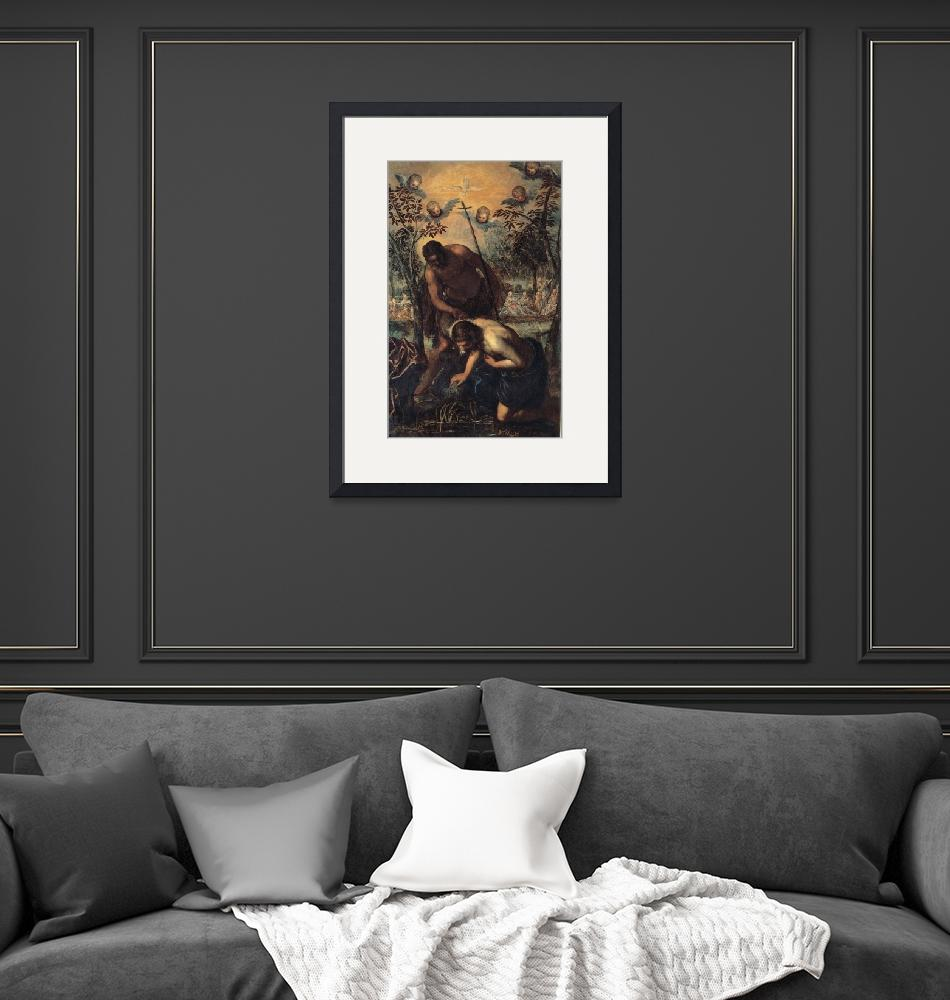 """""""Tintoretto~Baptism of Christ""""  by Old_master"""