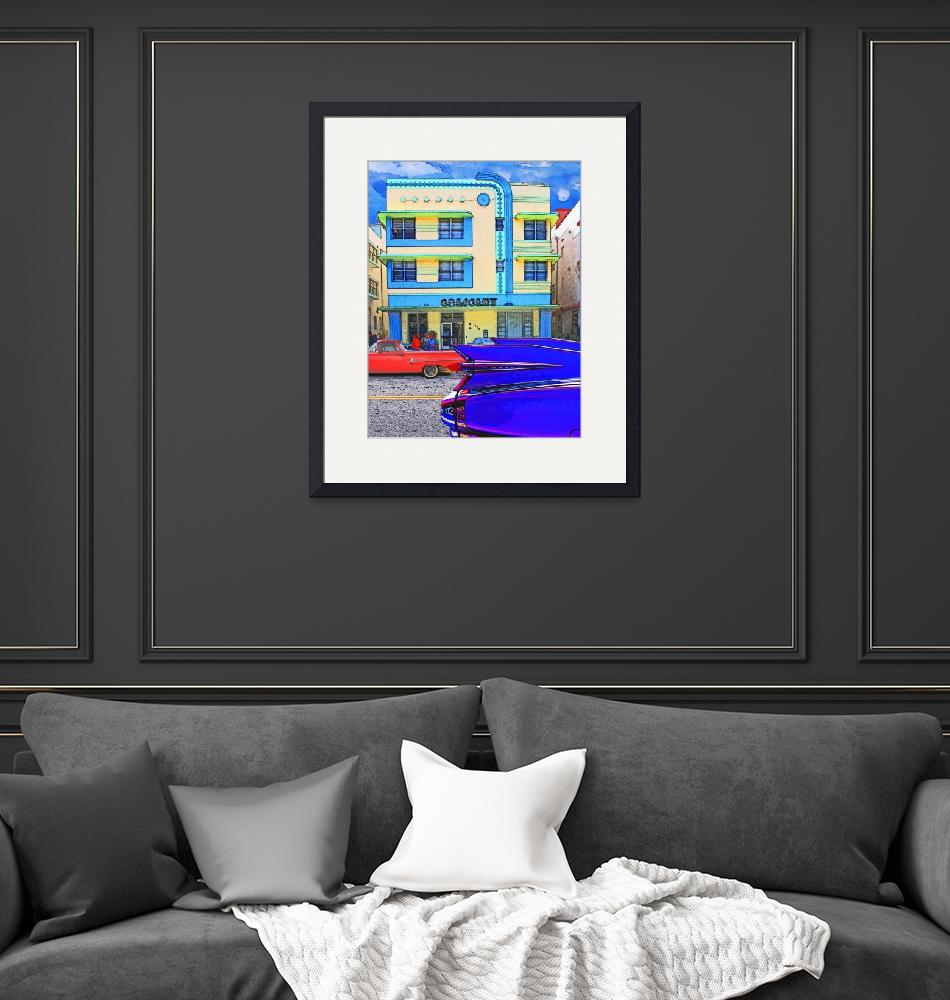 """""""Crescent Hotel South Beach Miami with Cars""""  (2009) by Automotography"""
