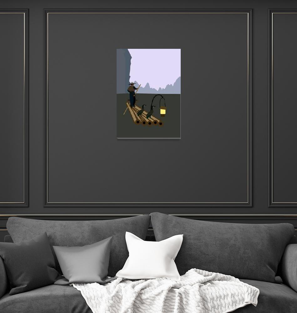 """Fishing with cormorants""  by Design4uStudio"
