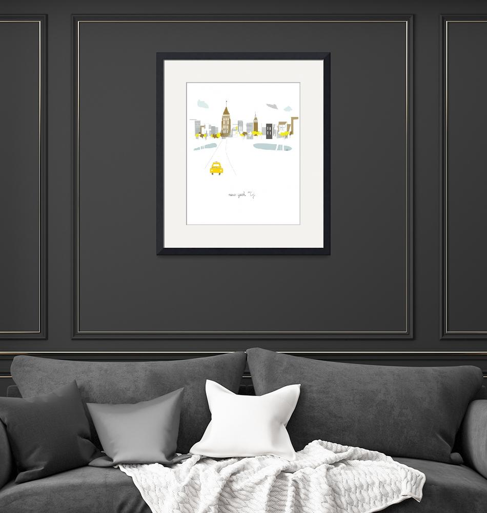 """New York City Modern Cityscape Illustration""  by AlbieDesigns"