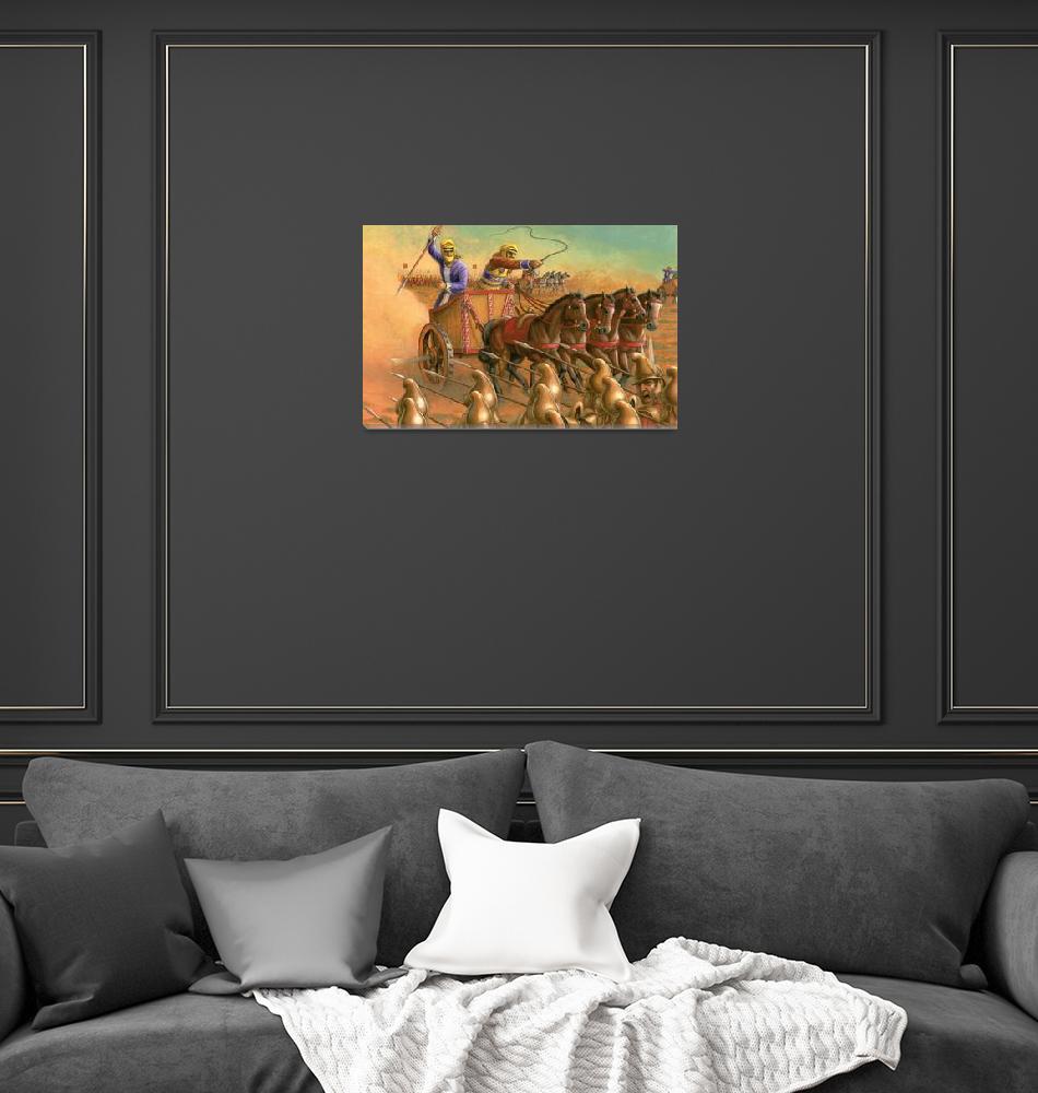 """""""Caspian Horse in Battle""""  (2011) by jacksby"""