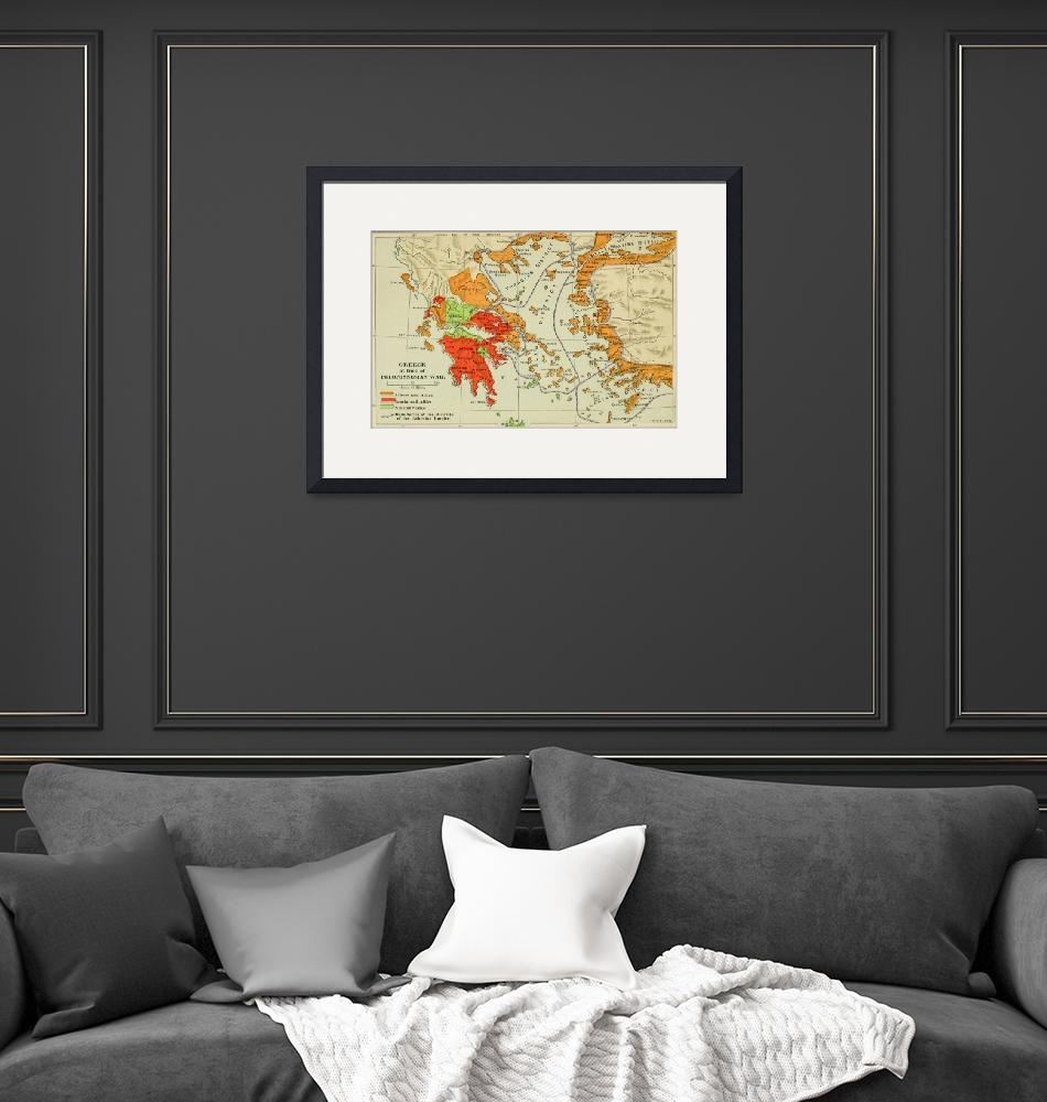 """""""Vintage Map of Ancient Greece (1904)""""  by Alleycatshirts"""