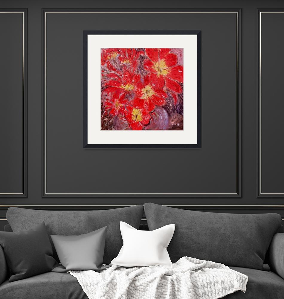 """""""Explosion in Red 2""""  (2008) by Nash-Wood"""