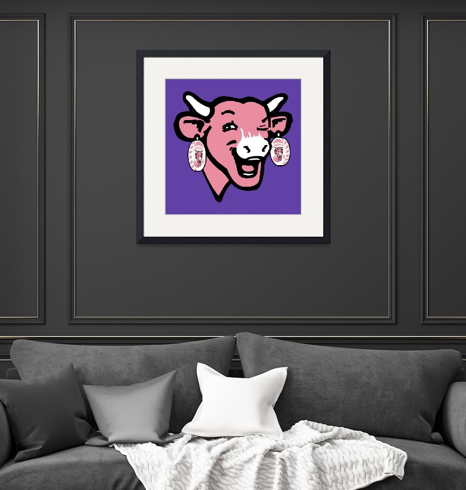 """The Laughing Cow Pop 4 - Pink on Purple""  (2015) by peterpotamus"
