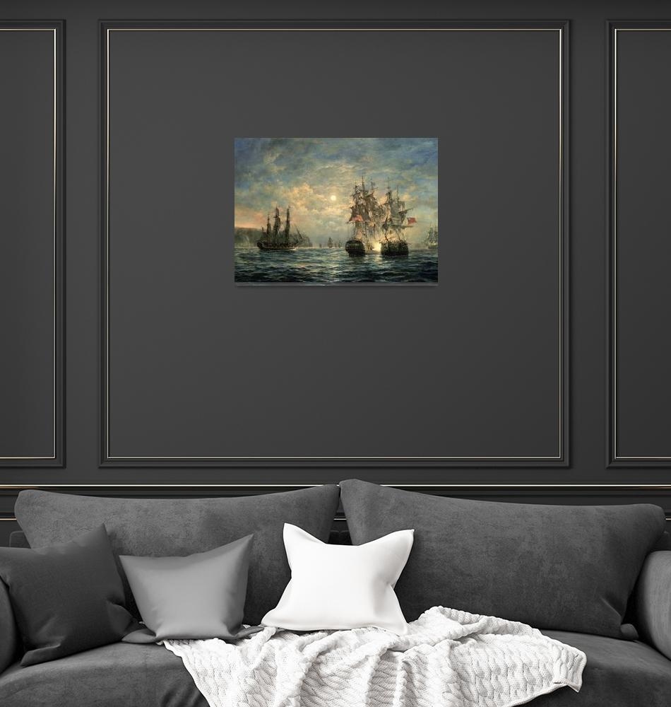 """""""Engagement off Flamborough Head by R. Willis""""  by fineartmasters"""